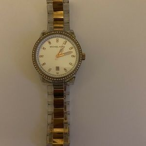 Michael Kors Watch ~ Rose Gold and Clear Acrylic